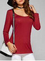 Strappy Cut Out Slimming T-Shirt -