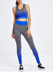 Sport Ombre Crop Tank Top+Pants