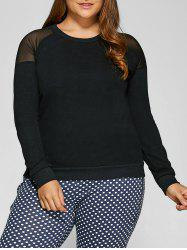 Yarn Insert Plus Size Raglan Sleeve Sweatshirt