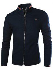 Rayé pied de col Zip Up Jacket -
