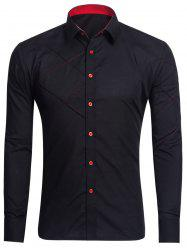 Long Sleeve Stitch Button Up Shirt
