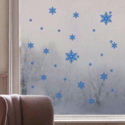 Merry Christmas Snowflake Showcase Decor Wall Stickers