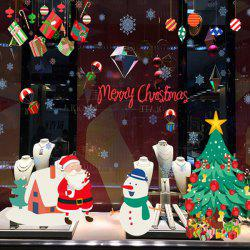 Wholesale Merry Christmas Shopwindow Removable Wall Stickers