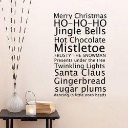 Merry Christmas Proverb Removable Living Room Wall Stickers