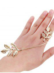 Gold Plated Spring Leaf Ring - GOLDEN