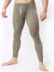 Breathable Ultrathin U Convex Pouch Long Pants - ARMY GREEN