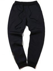 Plus Size Zipper Design Beam Feet Jogger Pants