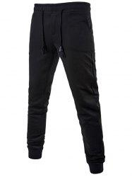 Sportive Drawstring Waist Cuffed Sweatpants
