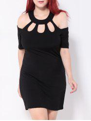 Cold Shoulder Cut Out Bodycon Party Dress