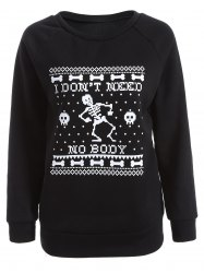 Skeleton Printed Sweatshirt