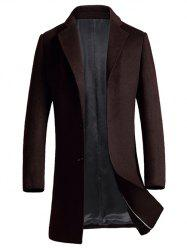 Single Breasted Lapel Woolen Blend Coat