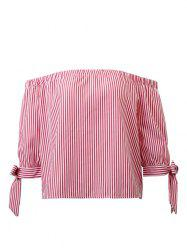 Off The Shoulder Stripe Blouse