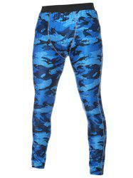 Skinny Ealstic Waist Camo Gym Pants