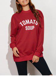 Tomato Soup Oversized Sweatshirt -