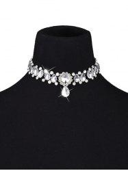 Artificial Crystal Gem Water Drop Choker Necklace