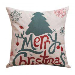 Merry Christma Household Sofa Bed Pillow Case