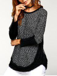 Asymmetric Pullover Sweater - GRAY