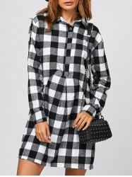 Casual Check Plaid Polo Shirt Dress