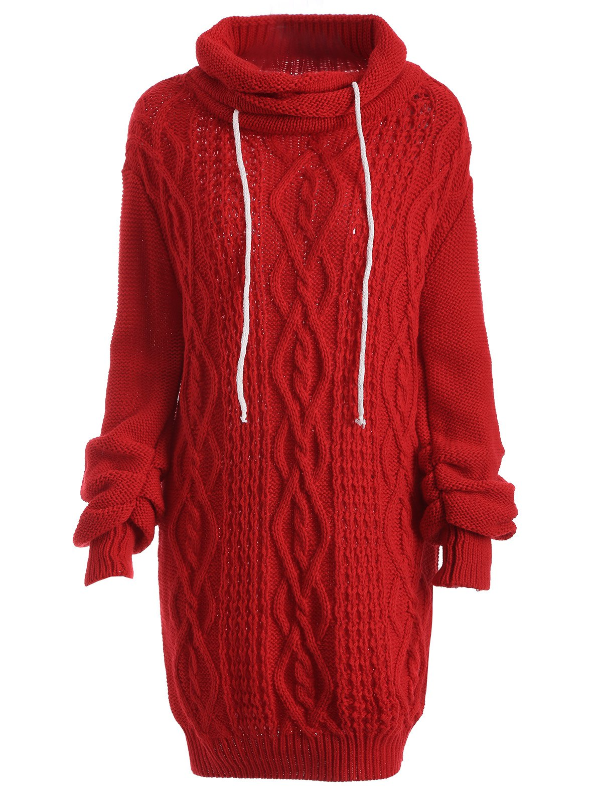 Hot Long Sleeve Polar Neck Jumper Dress