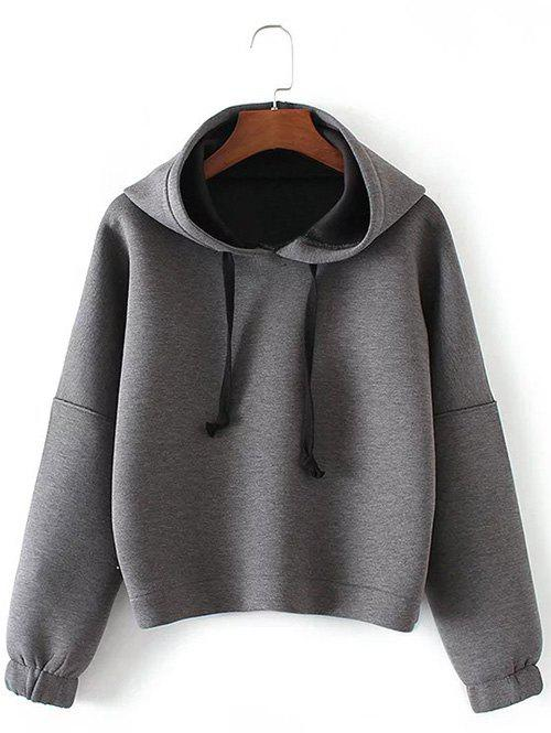 Outfits Drop Shoulder Drawstring Pullover Hoodie