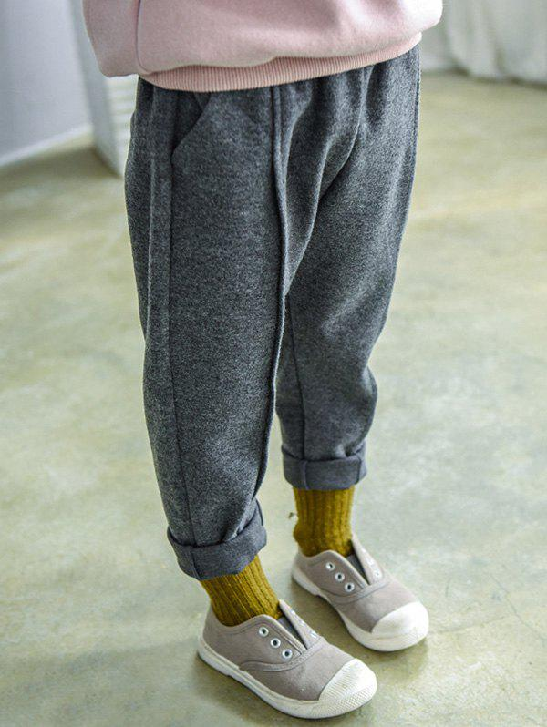 Online Elastic Waist Narrow Feet Sweatpants