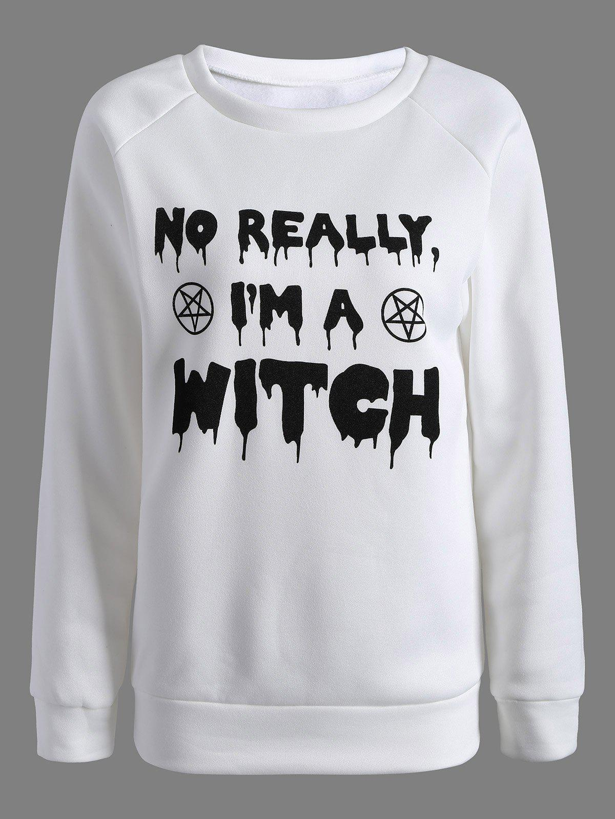 Am Witch Sweatshirt - White S
