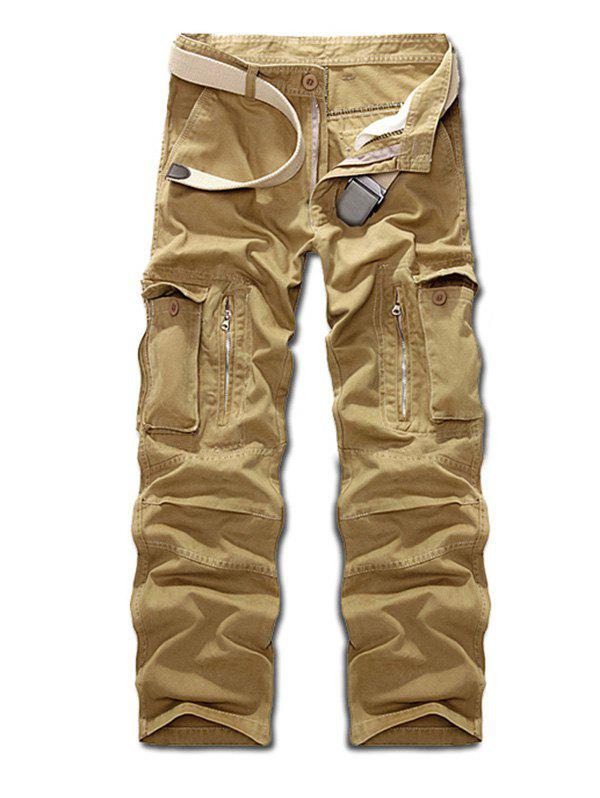 Fancy Multi Pockets Zippered Cargo Pants
