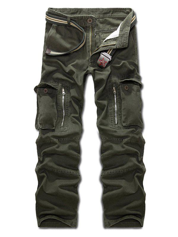 Outfits Multi Pockets Zippered Cargo Pants