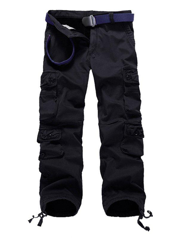 Best Multi Pockets Drawstring Cuff Flocking Cargo Pants