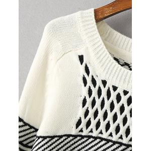 Geometric Net Pattern Loose Sweater -