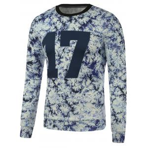 Crew Neck 17 Printed Tie Dyed Sweatshirt