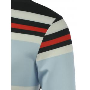 Stripe Printed Crew Neck Sweatshirt - STRIPE XL