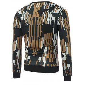 Abstract Printed Crew Neck Sweatshirt - COLORMIX XL