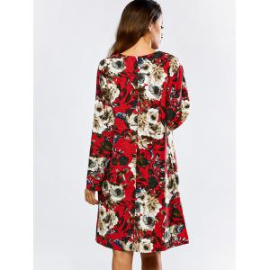 Floral Loose Long Sleeve Dress -