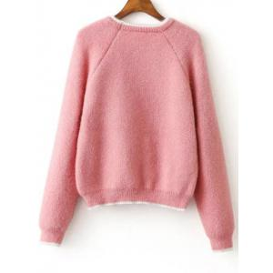 Raglan Sleeve Jumper Sweater -