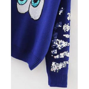 Sequined Eyes Jumper Sweater -
