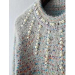 Beaded Rainbow Jumper Sweater -