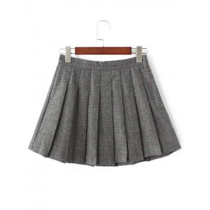Pleated Mini Wool Tennis Skirt