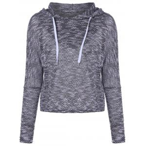 Hooded Long Sleeve Drawstring Sweater