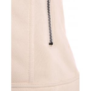 Cotton Zip-Up Thickening Winter Jacket - APRICOT L