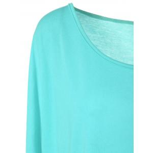 High Low Plus Size Plain T-Shirt -
