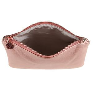 Faux Leather Makeup Bag - PINK