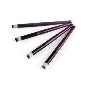 4 Pcs Angled Eye Makeup Brushes Set - Purple