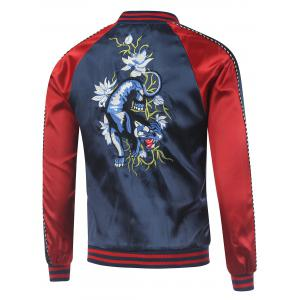 Kylin Embroidery Raglan Sleeve Souvenir Jacket -