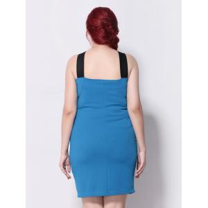 Panel Sleeveless Bodycon Party Dress - OASIS 5XL