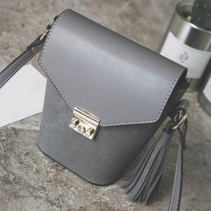 Metal Tassels Covered Closure Crossbody Bag