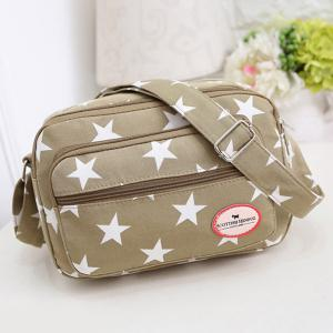 Zippers Star Printed Colour Splicing Crossbody Bag