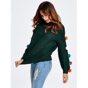 Pompon Chunky Knit Sweater -