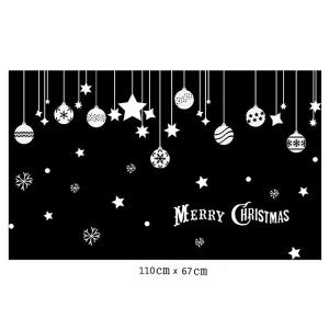 Removable Pendants Merry Christmas DIY Window Wall Stickers - WHITE