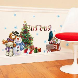 DIY Merry Christmas Wall Stickers Living Room Cabinet Decoration - COLORFUL